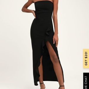 Lulus after hours strapless dress